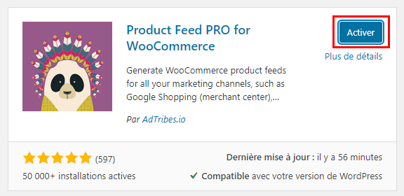 Installer Product Feed Pro (GPL) sur son site Wordpress